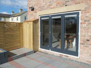 Custom made wooden bi-folding doors York