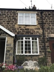 Heritage property before timber windows